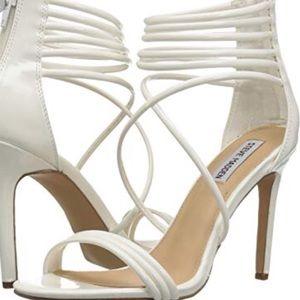 NWOT Steve Madden White ankle heel pumps new